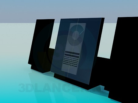 3d model Compact disk stereo cassette receiver - preview