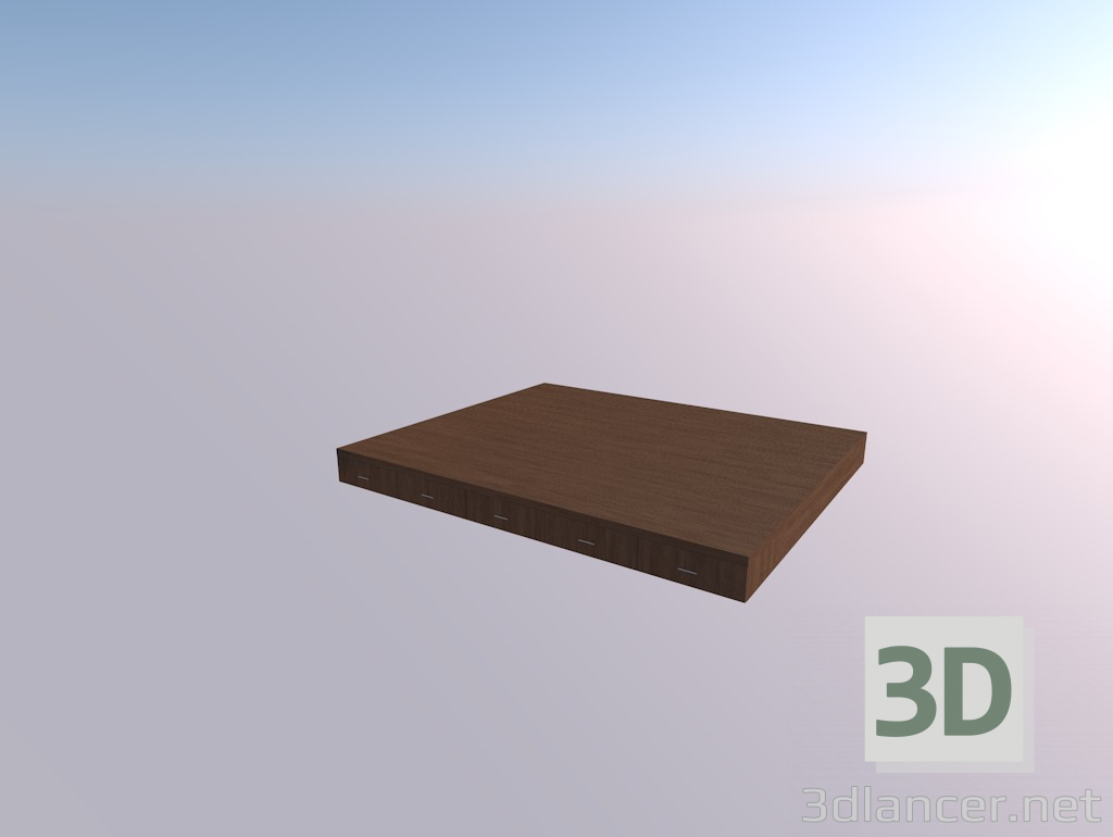 3d model Podium for a bed - preview