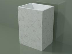 Lavabo sur pied (03R136301, Carrara M01, L 60, P 48, H 85 cm)