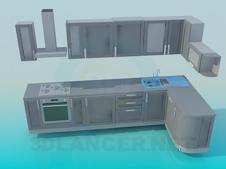modelo 3D Gran cocina - escuchar