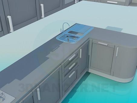 3d модель Большая кухня – превью