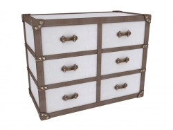 Chest Of Drawers White Croco