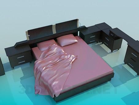 descarga gratuita de 3D modelado modelo Muebles en el dormitorio