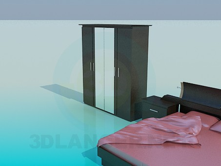 3d model Furniture in the bedroom - preview