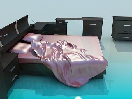 modelo 3D Muebles en el dormitorio - escuchar