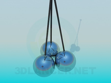 modelo 3D Lámpara bolas - escuchar