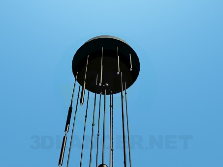 3d model Narrow chandelier - preview