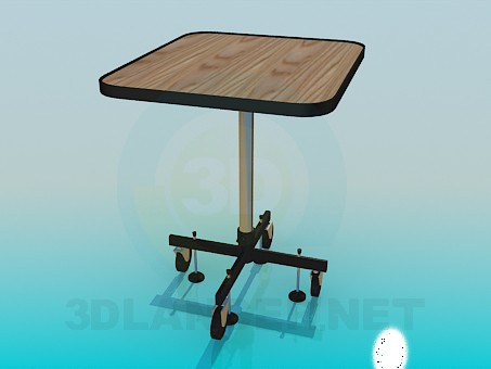 3d model Table on four wheels - preview