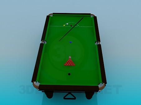 3d modeling billiard table model free download