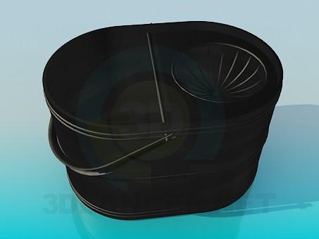 3d модель Відро для миття підлоги – превью