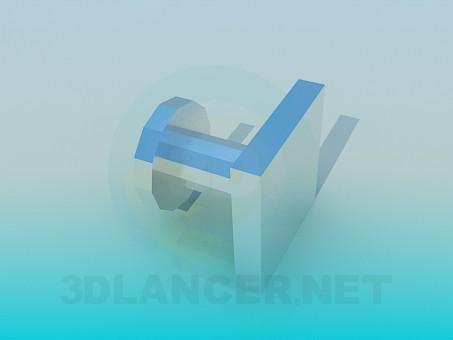 3d модель Ручка для мебели – превью