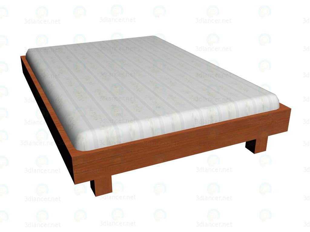 3d model Bed 140x200cm (no headboard) VOX - preview