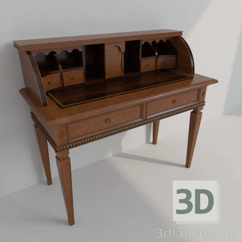 3d model the bureau in the style of classicism id 21961. Black Bedroom Furniture Sets. Home Design Ideas