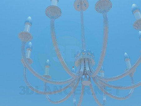 3d model Chandelier with candelabra - preview