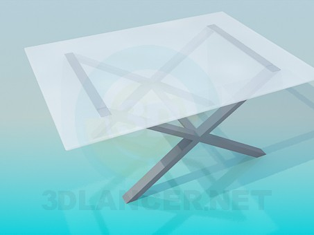 3d model Table with crossed legs - preview