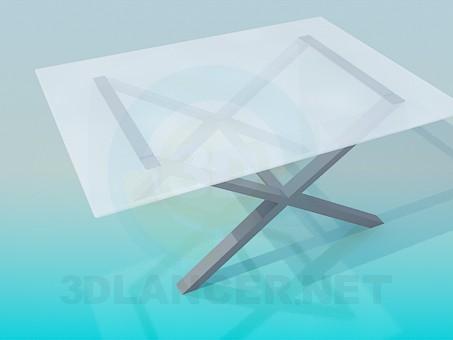 3d модель Столик на перехрещених ніжках – превью