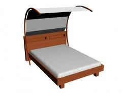 बिस्तर 140x200cm + carport