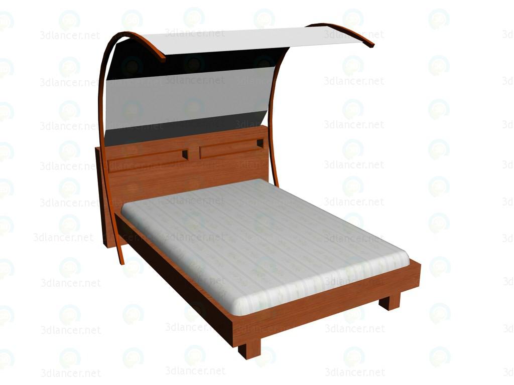 3d modeling Bed 140x200cm + carport model free download