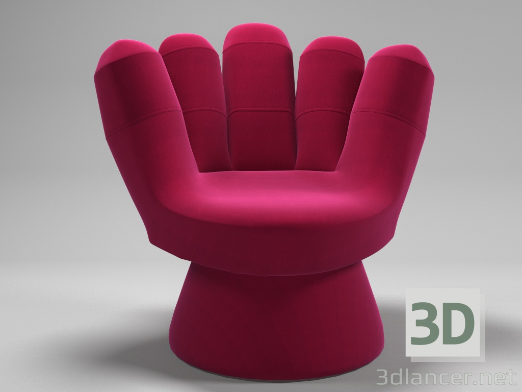 3d Chair hand model buy - render