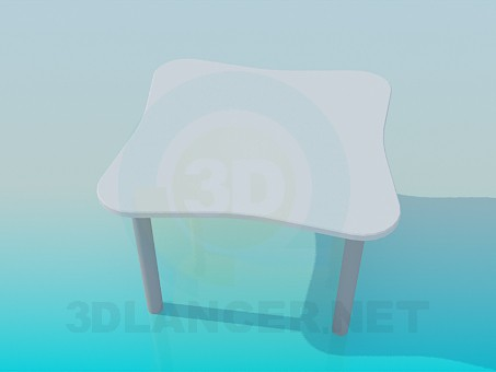 3d model Table for coffee - preview