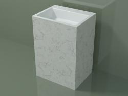 Lavabo sur pied (03R136303, Carrara M01, L 60, P 48, H 85 cm)