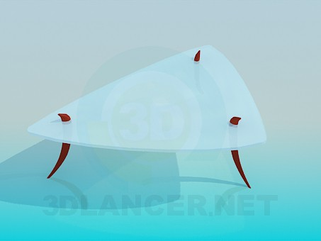 3d model Triangle coffee table - preview