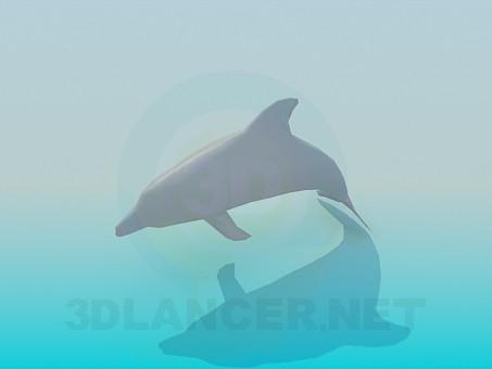 3d модель Дельфін – превью