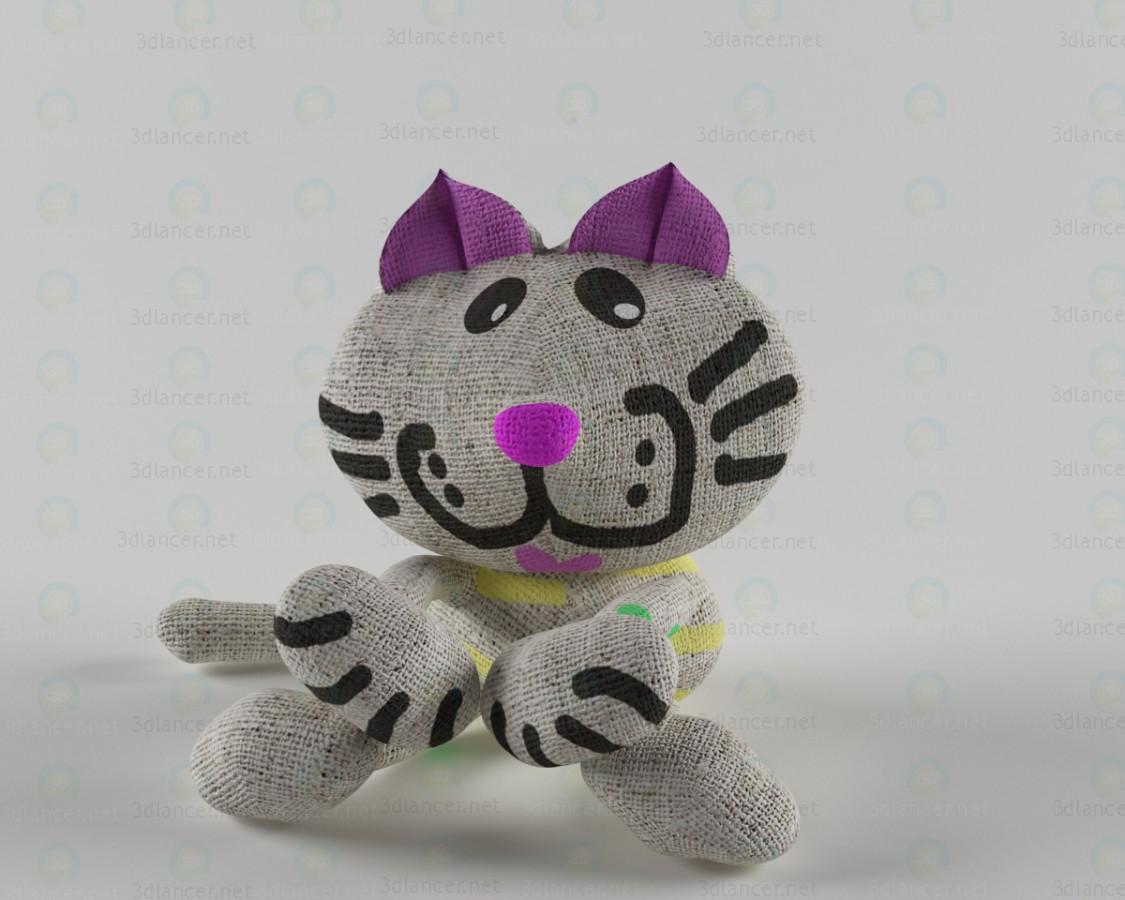 modelo 3D Gato - escuchar