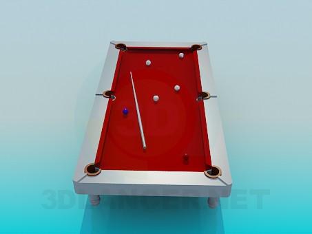 3d модель Стол бильярдный – превью