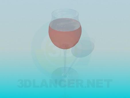 3d модель Бокал вина – превью