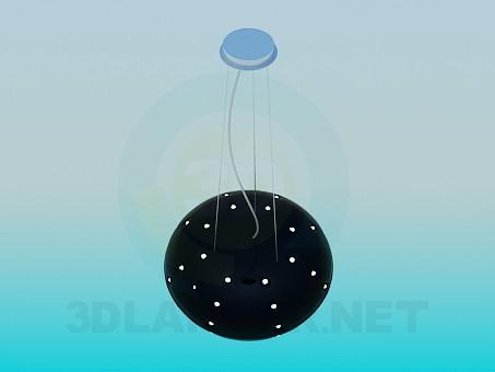 descarga gratuita de 3D modelado modelo Lámpara con bombillas halógenas