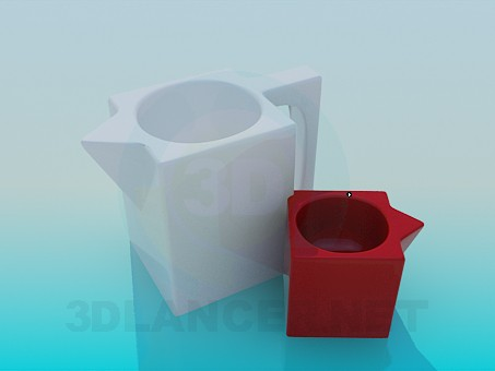 3d modeling Pots for flowers model free download