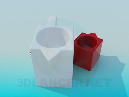 modelo 3D Macetas de flores - escuchar