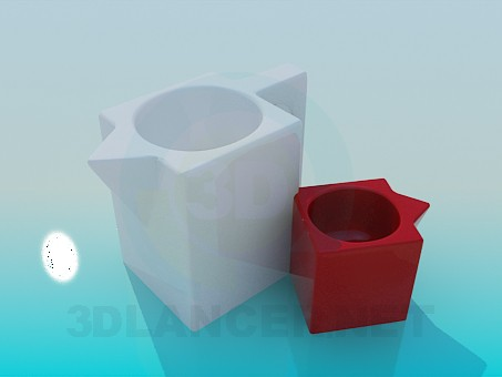 3d model Pots for flowers - preview