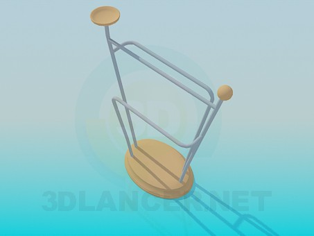 3d model Clothes hanger - preview