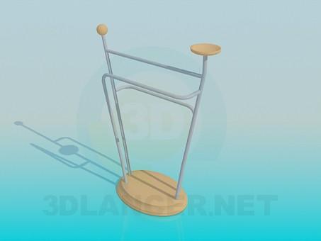 modelo 3D Colgador de ropa - escuchar