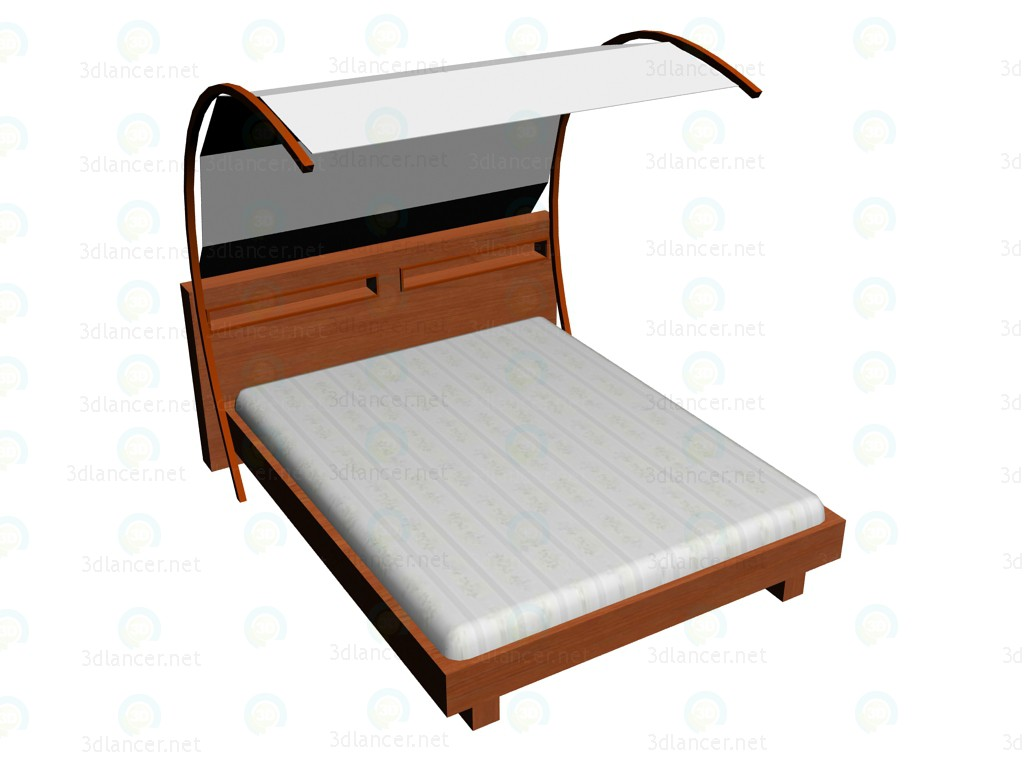 3d model Bed 160 x 200 + carport - preview
