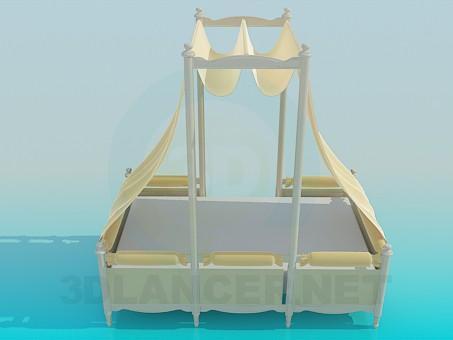 3d модель Кровать с балдахином – превью