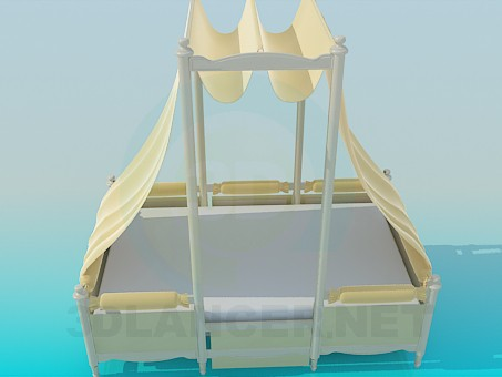 3d model Canopy bed - preview