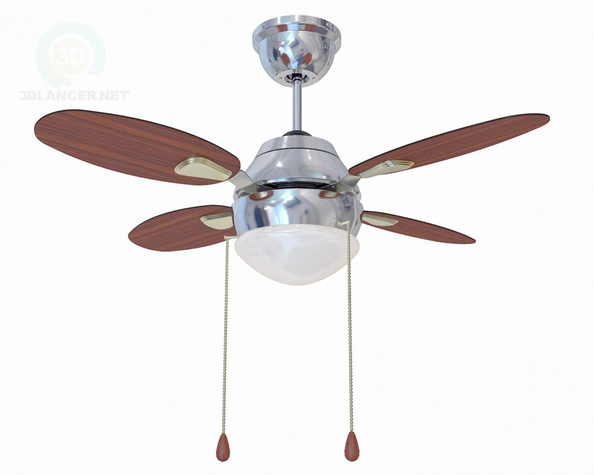 3d модель Вентилятор потолочный со светильником – превью