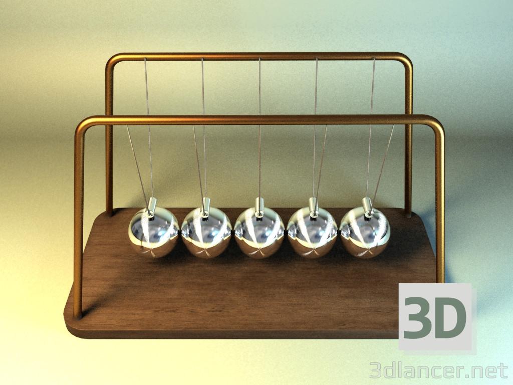 3d Newton cradle model buy - render