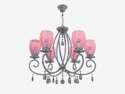 Suspended chandelier Magenta (3923 6)