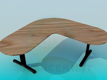 3d modeling Angular desk model free download