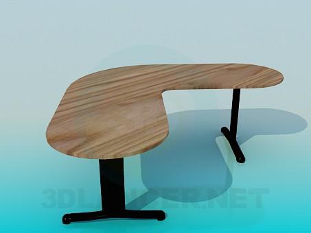 3d model Angular desk - preview