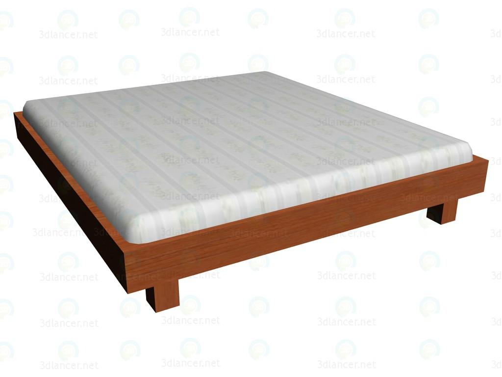 3d модель Кровать 180х200 (без изголовья) – превью