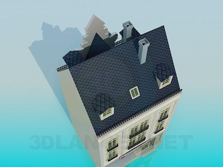 modelo 3D Edificio con una tienda - escuchar