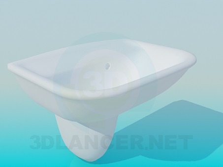 3d model Hanging wash basin - preview