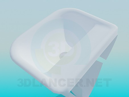 3d модель Підвісна умивальник – превью