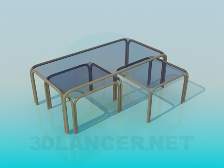 3d model Set of light tables - preview