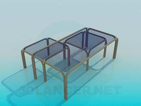 3d модель Набор легких столов – превью